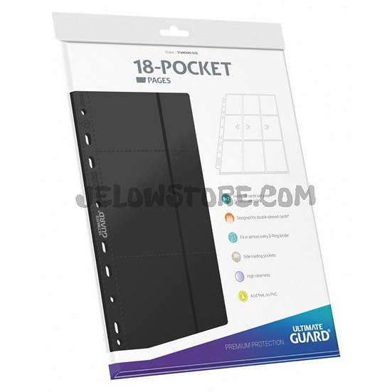 18-Pocket Side-Loading Pages (x10) - Noir [Ultimate Guard]