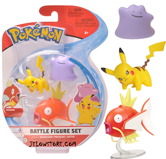 pokemon battle figure set magikarp pikachu ditto