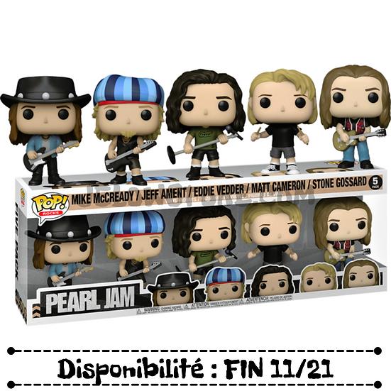 Funko pop [Pearl Jam]Mike McCready,Jeff Ament,Eddie Vedder,Matt Camero - 5 pack