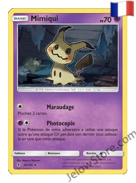 Carte Pokémon SL2 Gardiens Ascendants Mimiqui Holo Fr 58/145