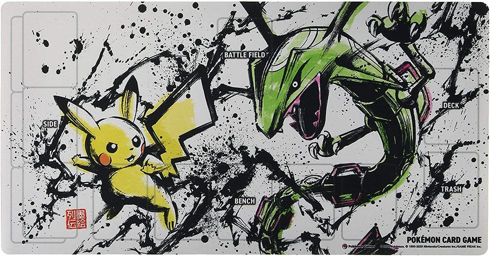 TCG JAP - Playmat Pokemon Sumi Drawing Series Pikachu & Rayquaza
