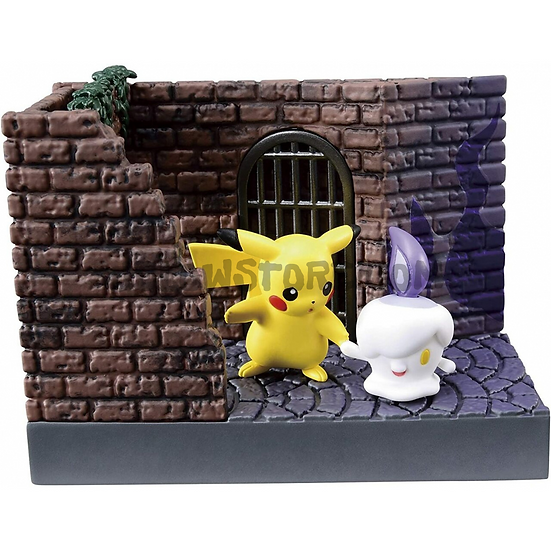 POKEMON RE-MENT [TOWN BACK ALLEY AT NIGHT] - Pikachu et Funécire