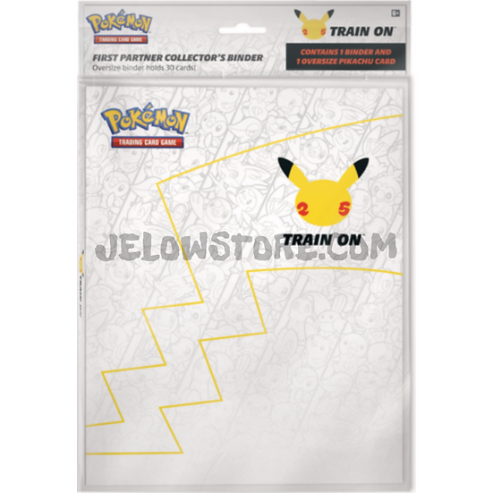Portfolio (jumbo) Pokémon 25th - Premiers partenaires + 1 carte géante Pikachu