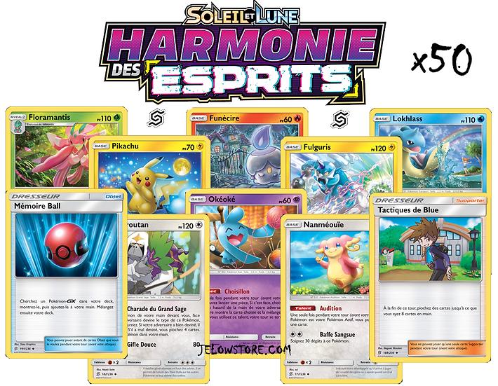 lot de cartes pokemon harmonie des esprits