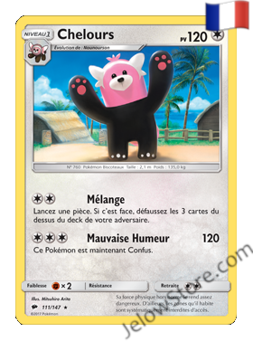 Carte Pokémon SL3 Ombres Ardentes Chelours FR 111/147