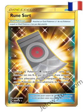 Carte Pokémon SL8 Tonnerre Perdu Rune Sort Secrète Gold Fr