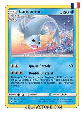 Carte Pokémon SL10 Lamantine 45/214