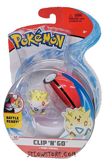 Pokémon [Pokéball Clip 'N' Go]: Togepi + Poké Ball
