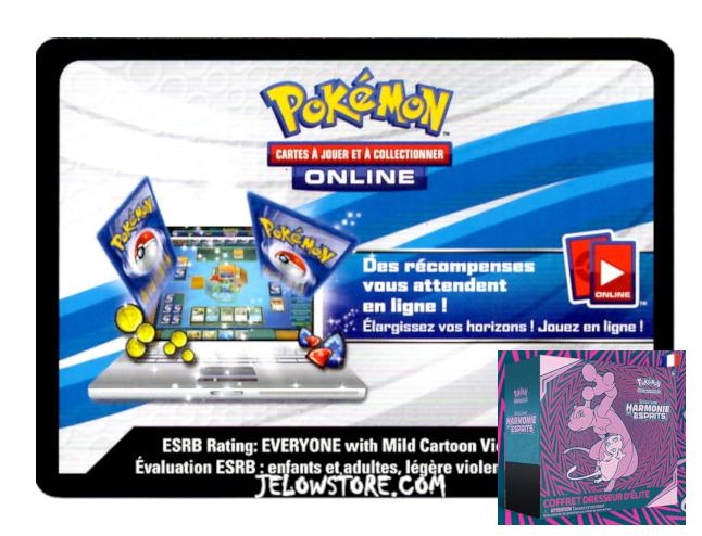 Code Online Pokémon - 1x ETB/Coffret Dresseur d'Elite [SL11]