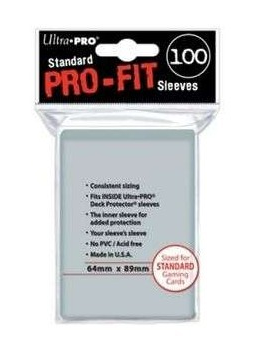Pro-Fit Sleeves [Ultra Pro] x100 - Taille Standard 64mmx89mm