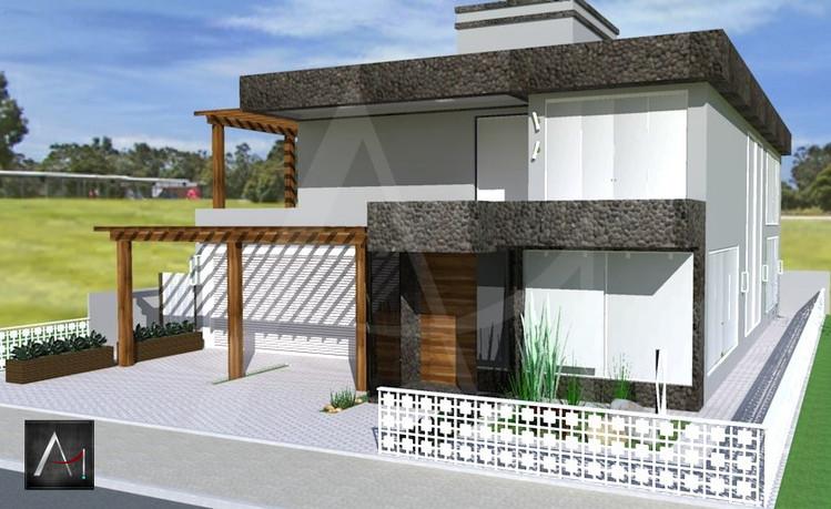 Fachada Residencial, Casa de Praia - RS.  Obra Nova