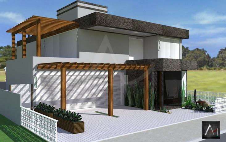 Fachada Residencial, Casa de Praia-RS  -  Obra Nova