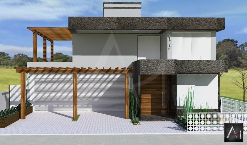 Fachada Residencial, Casa de Praia-RS.