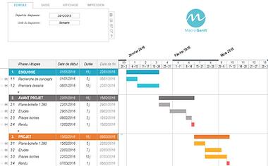 Macrogantt Logiciel De Diagramme De Gantt Gratuit Sous Excel