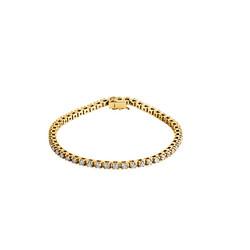 Yellow Gold Diamond Link Bracelet