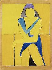 Richard Diebenkorn yellow figure