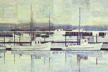 Dock 5 Newport Oregon abstract fractured image