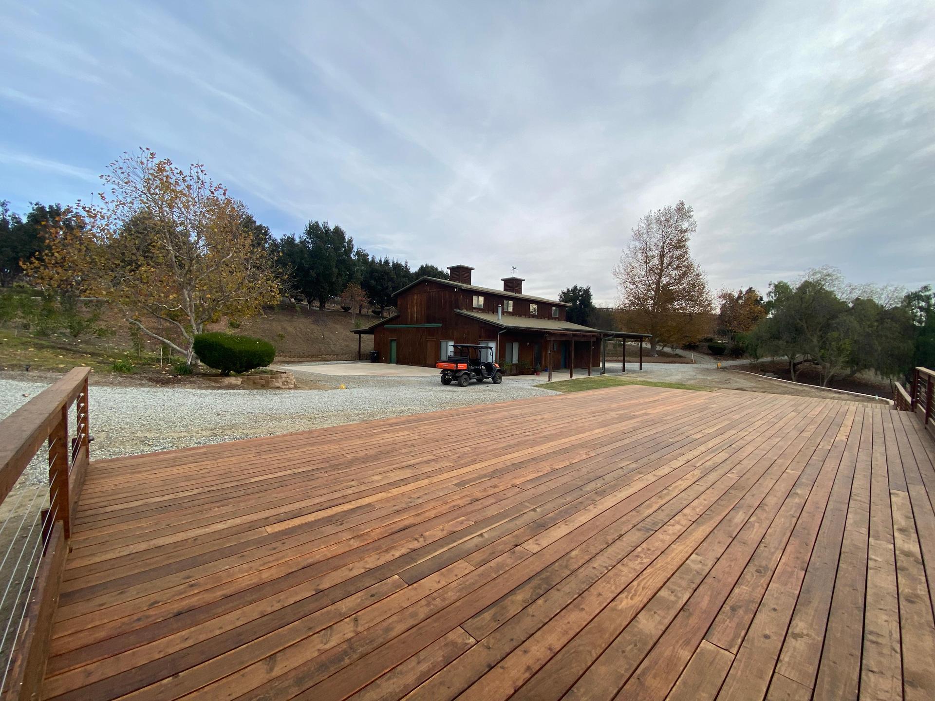 Barn Deck Left (New Landscaping Feb 2021)