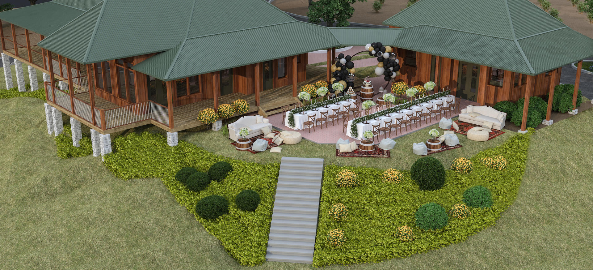 Courtyard Event Rendering Example