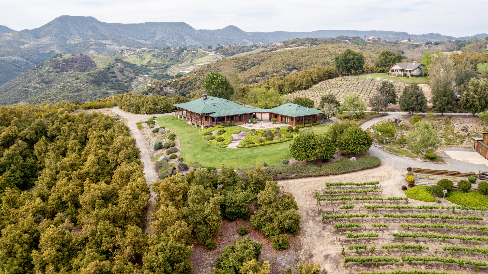 Randhawa Ranch Overview; Lower House and Barn North. No access to Upper House