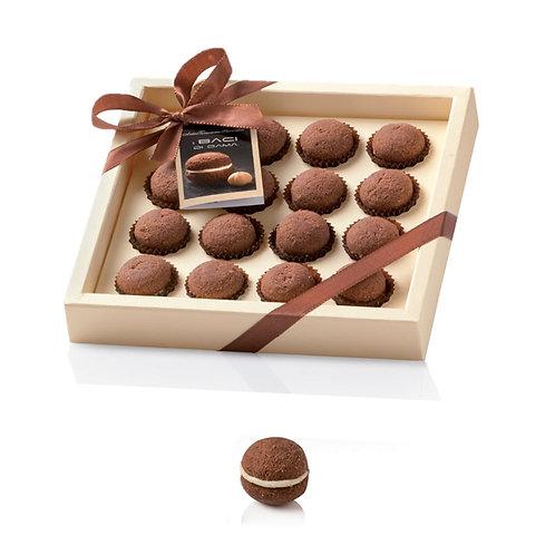 I Baci di Dama met chocolade in presenteerdoos - 10stuks