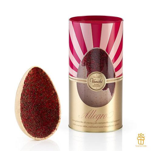 Allegro Gourmet groot chocolade paasei in blik - 1stuk