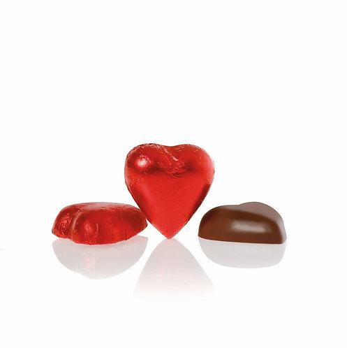 Chocoladehartje van melkchocolade - 1kg