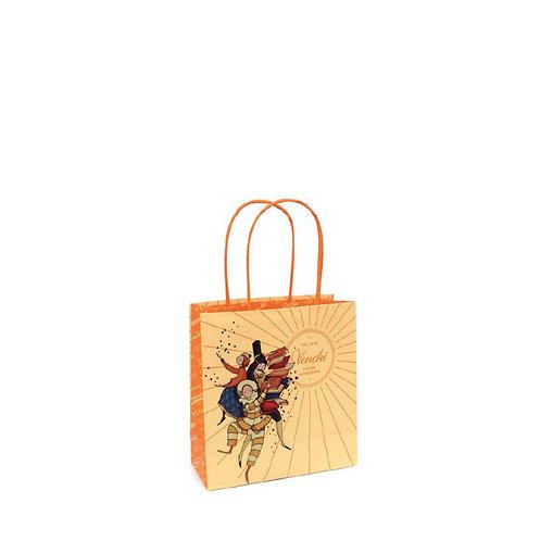 Oranje shopper, small - 20stuks