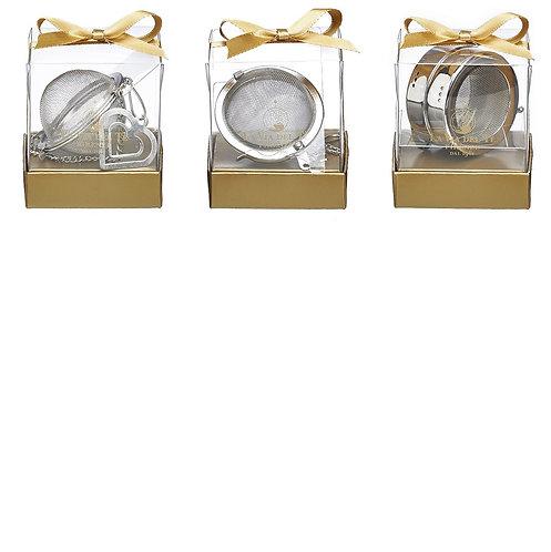 RVS thee ei in geschenkverpakking - 6stuks
