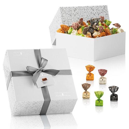Geschenkdoos met 5 smaken chocoaldetruffels - 4stuks