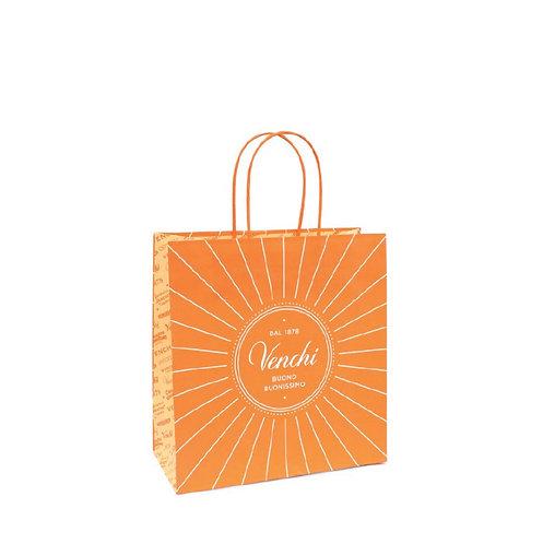 Oranje shopper, medium - 10stuks