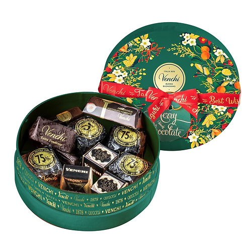 Venchi Winter mandje met chocolade - 10stuks