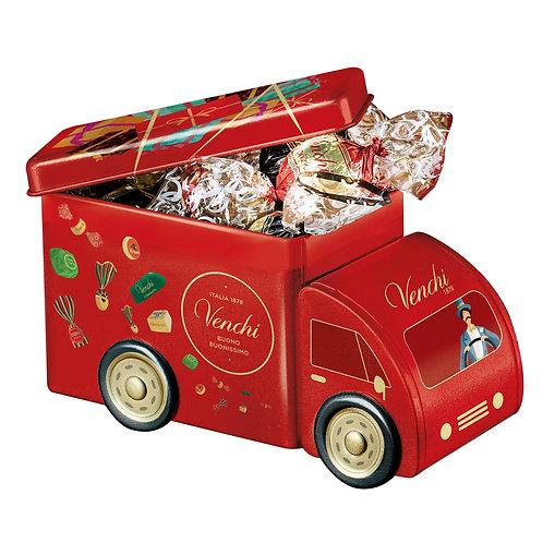 Venchi Kerst minibusje met chocolade - 8stuks