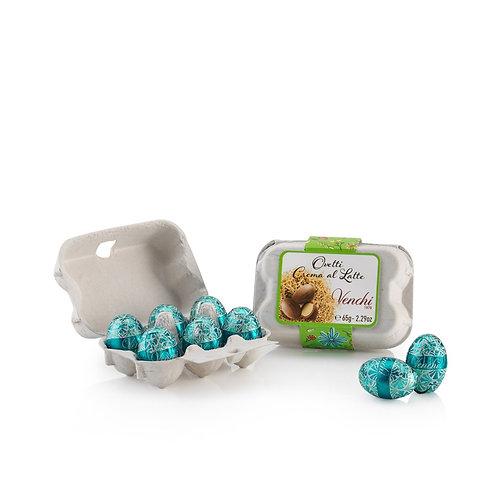 Chocolade paaseitjes in klein eierdoosje - 12stuks