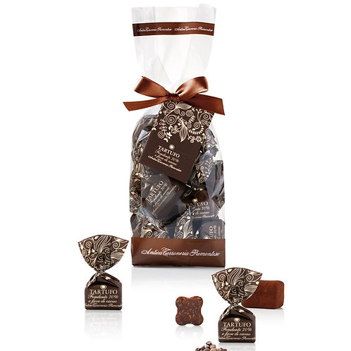 Chocoladetruffels Fondente 70%, in zakje - 12stuks