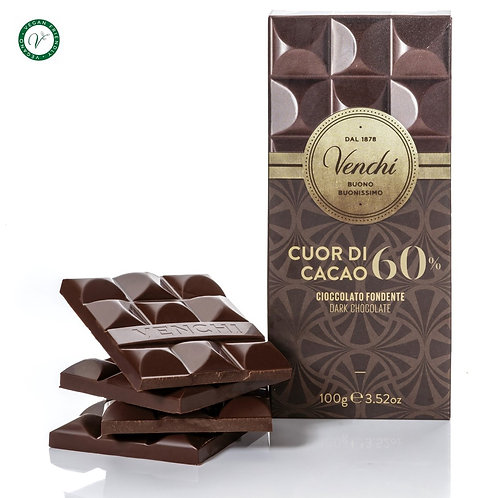 Venchi pure chocoladereep 60% - 24stuks