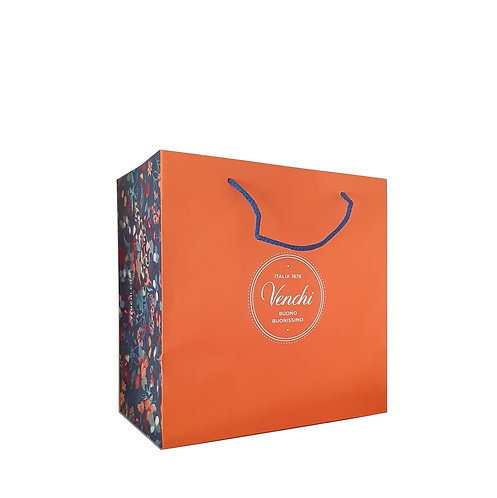 Oranje 'garden' shopper, large - 10stuks