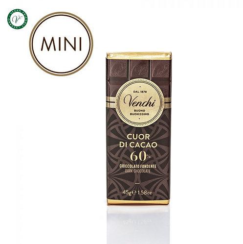 Venchi mini chocoladereep puur 60% - 30stuks