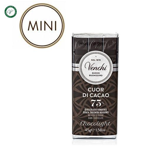 Chocolight mini pure chocoladereep 75% - 30stuks
