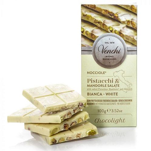 Witte chocolade hazelnootreep met gezouten noten Chocolight - 24stuks