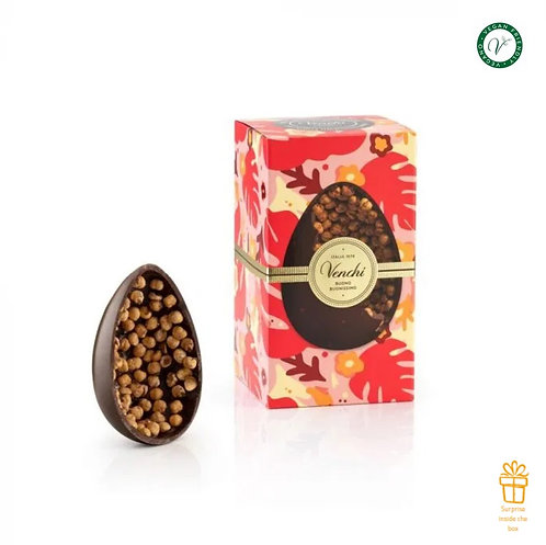 Mignon pure chocolade en hazelnoot paasei - 12stuks