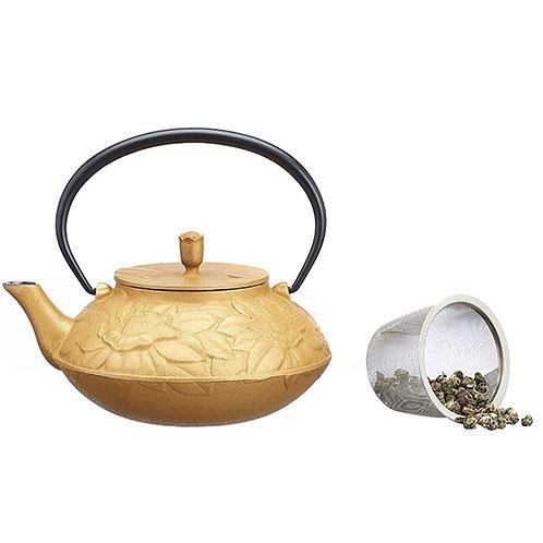 Gietijzeren theepot in goud - 1stuk