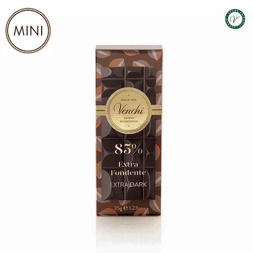 Mini chocoladereep puur 85% - 32stuks