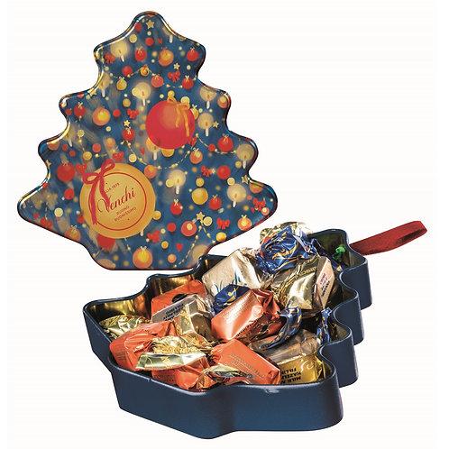 Venchi metalen kerstboom met chocolade - 8stuks