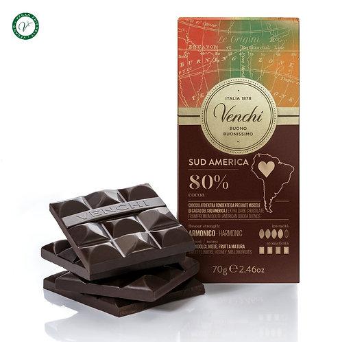 Pure chocoladereep 80% Zuid-Amerika blend  - 24stuks