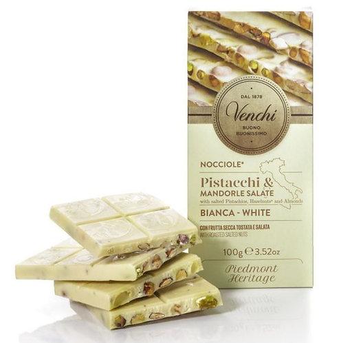 Venchi witte chocoladetablet met gezouten noten - 24stuks