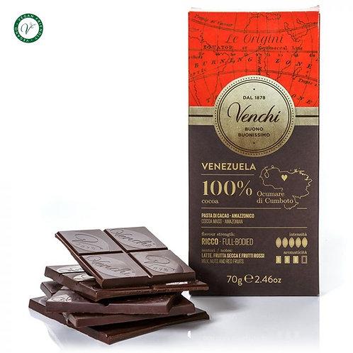 Venchi pure chocoladereep 100% - 24stuks