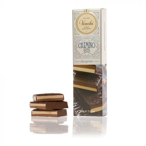Venchi Cremino reep bedekt met chocolade - 12stuks