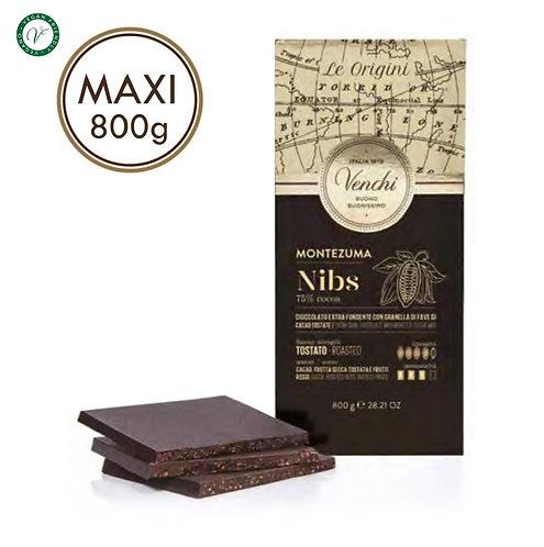 Maxi 75% Montezuma nibs chocoladereep - 4stuks