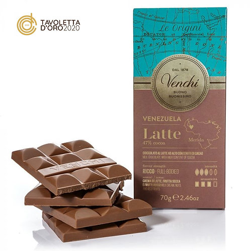 Venchi 47% melkchocoladereep - 24stuks
